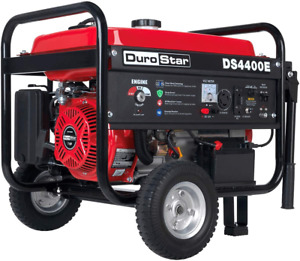 Durostar Ds4400e Gas Powered Portable Generator 4400 Watt Electric Start camping