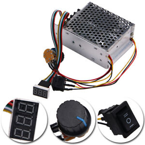 Adjustable Dc 10 55v Pwm Motor Speed Controller With Digital Display Max 60a