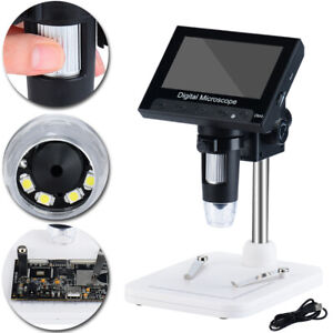 1000x 4 3 Lcd Monitor Electronic Digital Video Microscope Led Magnifier Clearly