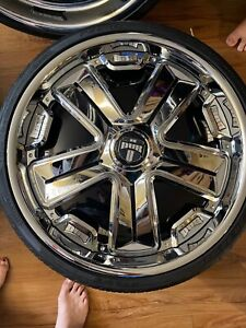 22 Inch spinner Dub Cyphen Wheels With Pirelli Pzero Tires