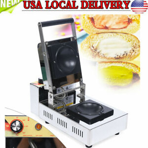 Us Commercial Panini Press Toaster Electric Sandwich Maker Machine Ribbed Grill