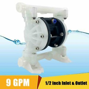 9gpm Air operated Double Diaphragm Pump For Industrial Use 1 2 Inlet outlet Us