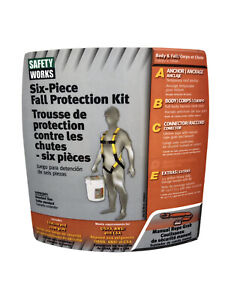 Safety Works 6 piece Fall Protection Kit 10095901