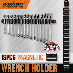 17 Super Magnetic Wrench Holder Tool Organizer Adjustable Wall Hang 15 Spanner