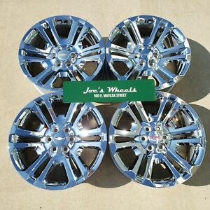 Gm 22 Sierra Denali Yukon Factory Silverado Oem Chrome Wheels Chevy Ck158 Tahoe