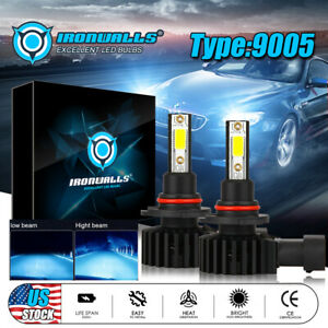 Led Headlight 9005 Hb3 H10 9140 9145 2200w 8000k Ice Blue 330000lm Bulbs Bright