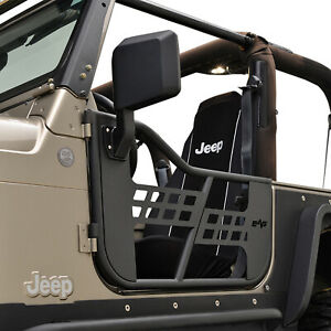 Eag Tubular Door Safari 2pcs With Side Mirror Fit For 1997 2006 Jeep Tj Wrangler