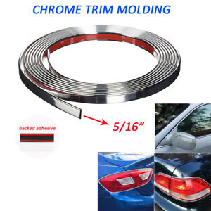 5 16 8mm Chrome Trim Molding Car Roof Door Side Decorate Protector Strip 5feet
