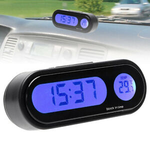 Car Auto Digital Led Electronic Time Clock Thermometer With Backlight 12w