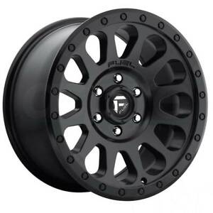 17x9 Matte Black Wheels Fuel D579 Vecor 6x5 5 6x139 7 12 Set Of 4