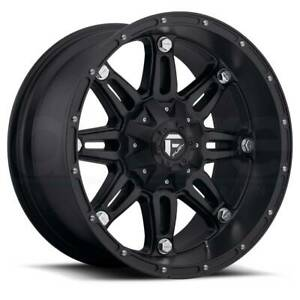 17x9 Matte Black Wheels Fuel D531 Hostage 6x135 6x5 5 12 Set Of 4
