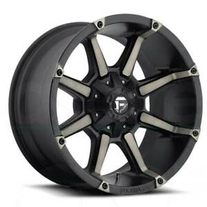 17x9 Matte Black Tint Wheels Fuel D556 Coupler 5x5 5x5 5 12 Set Of 4