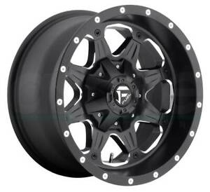 17x9 Matte Black Milled Wheels Fuel D534 Boost 6x135 6x5 5 12 Set Of 4