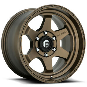 17x9 Matte Bronze Wheels Fuel D666 Shok 6x5 5 6x139 7 12 Set Of 4