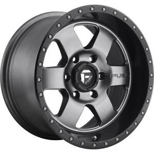 17x9 Matte Gunmetal Black Wheels Fuel D619 Podium 5x5 5x127 12 Set Of 4