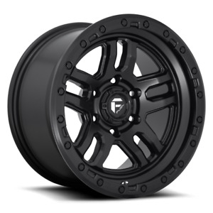 17x9 Matte Black Wheels Fuel D700 Ammo 6x135 13 Set Of 4
