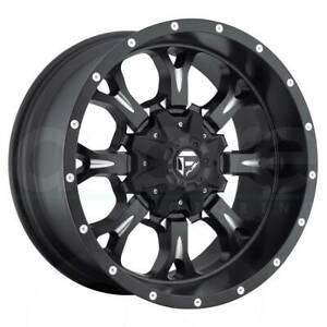 17x9 Matte Black Milled Wheels Fuel D517 Krank 8x6 5 8x165 1 12 Set Of 4