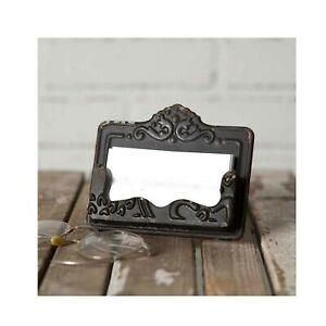 Rustic Distressed Shabby Chic Vintage Black Business Card Holder