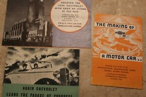 3 1933 Chevrolet Six Brochure Service Repair Manual Chevy Gm Century Of Progress