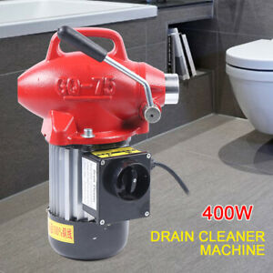 20 100mm Electric Snake Sewer Sectional Pipe Drain Cleaner Cleaning Machine 400w