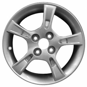 02 03 Mazda Protege 15x6 Factory Oem 5 Spoke Silver Wheel Rim 64851