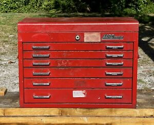 Vintage 1970s Mac Tools Tool Box chest 6 Drawers Made In Usa Super Rare