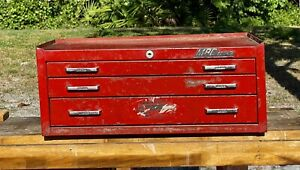 Vintage 1970s Mac Tools Tool Box Center Chest 3 Drawers Made In Usa Super Rare