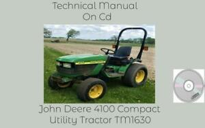 John Deere 4100 Compact Utility Tractor Service Technical Manual Tm1630 On Cd
