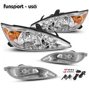 Headlights Fog Lamps For 2002 2004 Toyota Camry Assembly Replacement 02 03 04