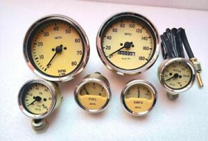 Smiths Replica Gauges Kit temp Oil fuel Amp Gauge mechanical Tacho speedometer