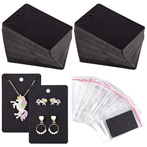 Whaline 150 Pcs Necklace Earring Display Card With 200 Self seal Bags Earring X