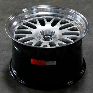 17x8 Hyper Silver Ml Wheel Xxr 531 4x100 4x114 3 25 1