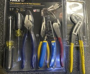 New Klein Tools 94126 6 piece Tool Set For Trade Pro claw Pliers D504 10
