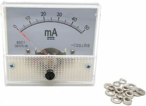 Ammeter Dc 0 30ma Current Panel Meter Analog Ammeter 2 5x2 2x2 2 lxw 0 30ma