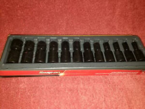 Snap on 312iplm 1 2 Metric Impact Swivel Socket Set 12 Pc 6 Point Flank Drive