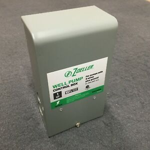 Zoeller Well Pump Control Box 1 0 Hp For 3 wire Submersible Well Pumps 1010 2338