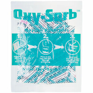 Oxy sorb 100 Pack Oxygen Absorbers For Dehydrated Food Grain Emergency Storage