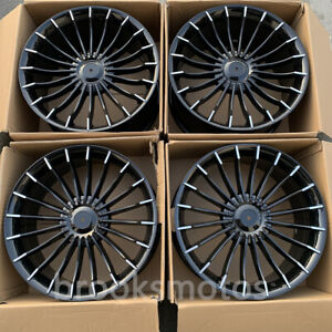 21 A Style Wheels Rims Fits For Bmw 2017 6 Series Gt 2016 7 Series B7 Black