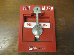 Simplex Pull Down Fire Alarm Wall Fixture No Key