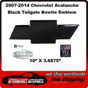 07 14 Chevy Avalanche Black Powder Coat Billet Bowtie Tailgate Emblem Ami 96094k
