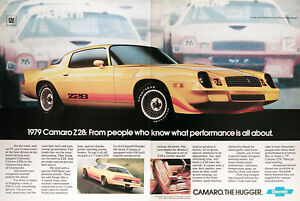 1979 Chevrolet Camaro Z 28 Genuine Vintage Ad The Hugger Free Shipping