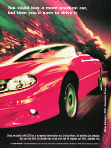 1998 Chevrolet Camaro Z28 Convertible Genuine Vintage Ad 305 Hp Free Shipping