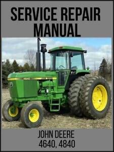 John Deere 4500 4600 4700 Compact Utility Tractor Technical Manual Tm1679 Usb