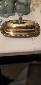 Vintage Wm Rogers Silver Plated Butter Dish