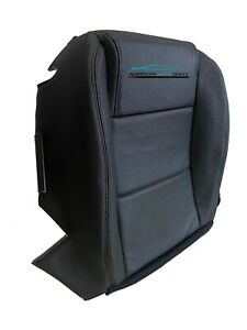 2005 2006 Ford Mustang Base Coupe V6 Driver Bottom Leather Seat Cover Black