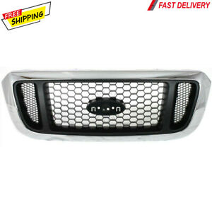 New For Ford Ranger 2004 2005 Grille Chrome Shell W Silver Insert Fo1200453