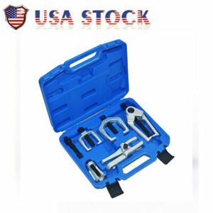 5pcs Front End Service Set Separate Pitman Arm Puller Tie Rod Remover Tool