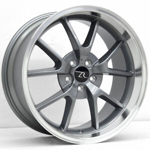 20 Gunmetal Fr500 Style Wheels Staggered 20x8 5 20x10 5x114 3 Mustang 2005 2021