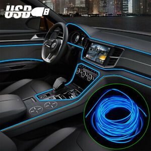 16 4ft Auto Car Interior Atmosphere Wire Strip Light Led Decor Lamp Accessories