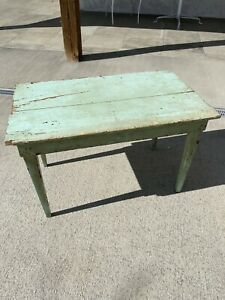 Antique Small Primitive Green Table